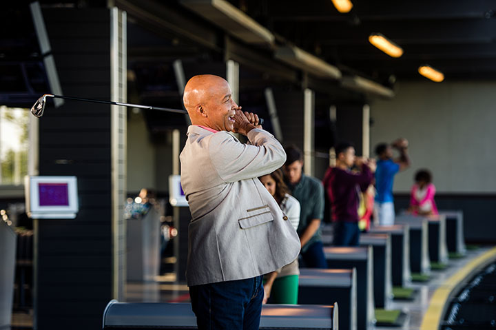 Golfer at TopGolf