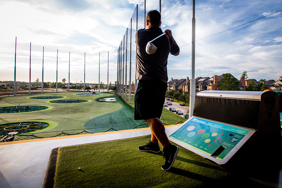 Golfer at Top Golf