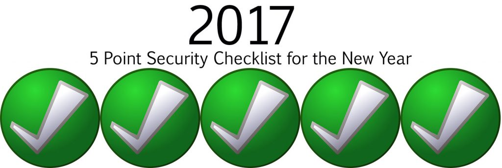 5 Point Security Checklist for the New Year