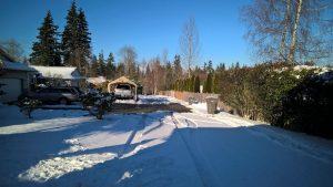 Snowy driveway